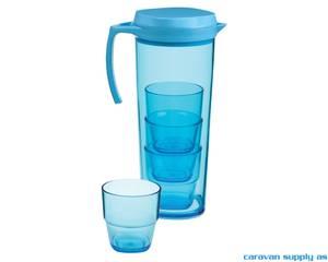 Bilde av Mugge Gimex m/4 glass stablebare 1,6l blå