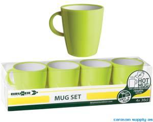 Bilde av Krus Brunner Hot Mug Space limegrønn 4stk
